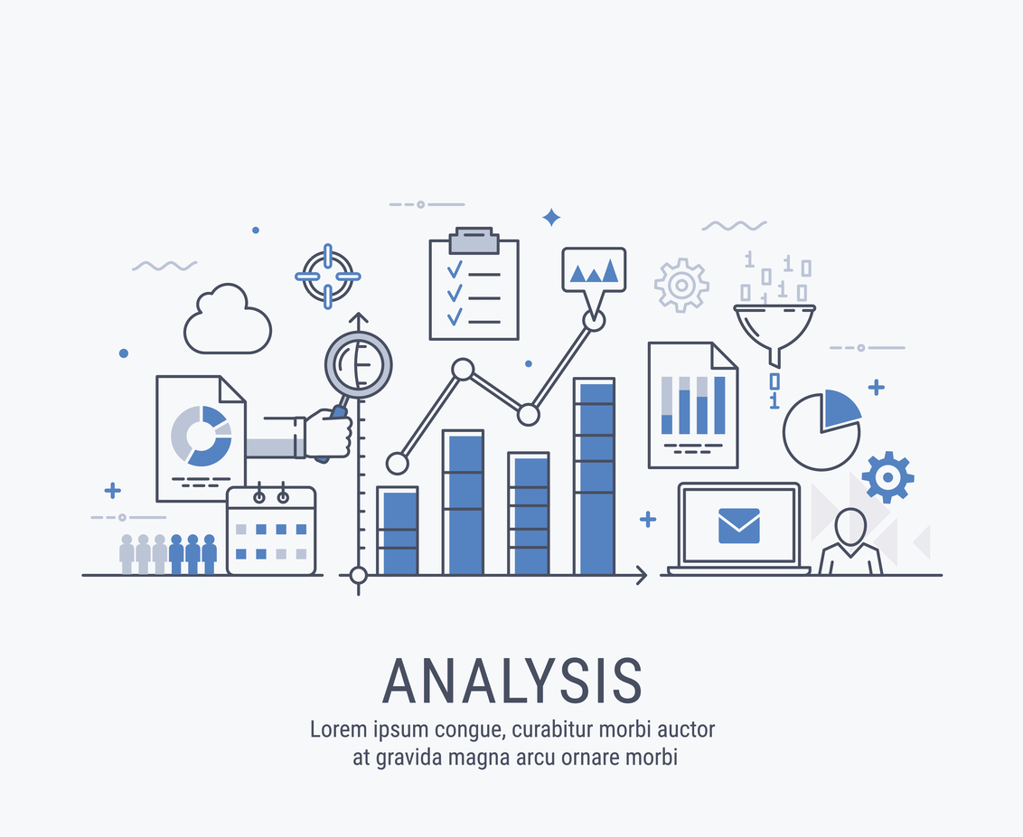 Analysis vector illustration